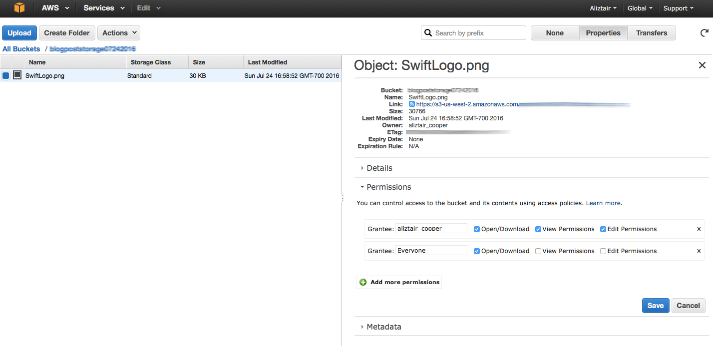 Cloud Storage with AWS S3 – Part 1 – Swift Code Composer
